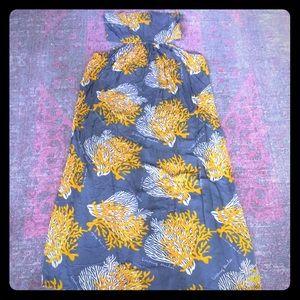 Living Hula strapless cutout hawaiian dress sz L